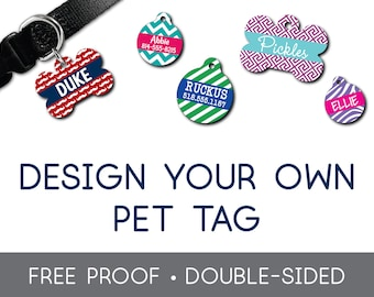 fbd18c5b7724 Design Your Own Custom Pet Tag Dog Tag Cat Tag Pet Tag Dog ID Tag Pet ID Tags  Dog Custom Pet Tag Puppy Tag Personalized Pet Tag