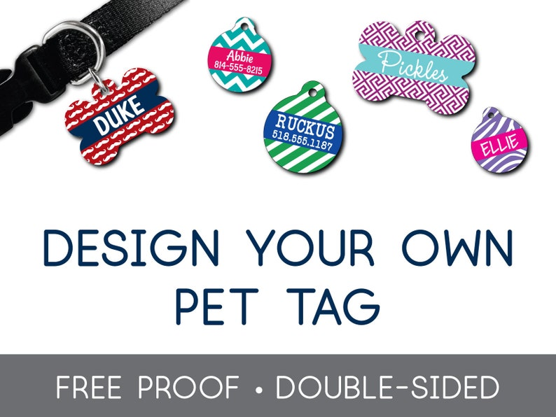 855186b2481b Design Your Own Pet Tag Dog Tag Cat Tag Custom ID Tag Pet Tag | Etsy