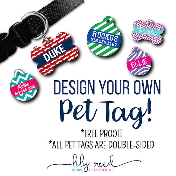 design your own pet tag create your own tag pet id tag dog etsy