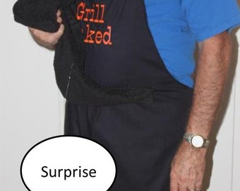 Penis apron--HEAD CHEF Apron, Halloween, funny man apron, funny aprons,Personalized, w/ X-Rated Penis -Fast Shipping-- Mature Content