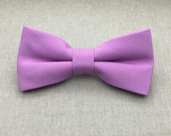 d1068ecba6a1 Orchid Bow Tie, Mens Bow Tie, Solid Orchid Purple Bow Tie, Bow Tie for Men, Bow  Tie for Wedding, Plain Bowtie, Groomsmen Bow Tie, Groom Bow