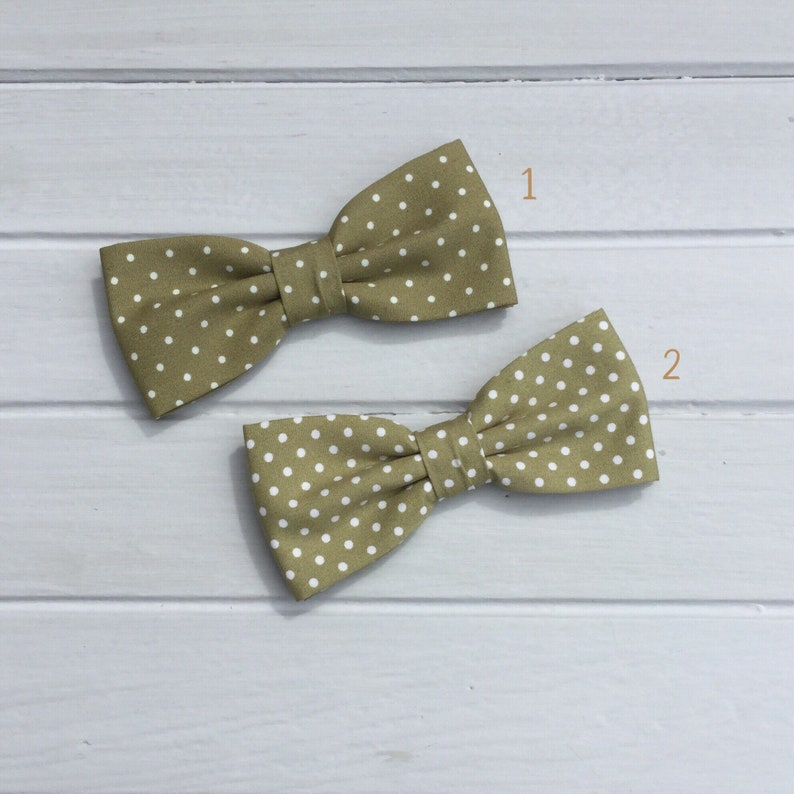 a44d567c0018 Mens Bow tie Olive Green Bow Tie Polka Dot Bow tie Bow Tie | Etsy