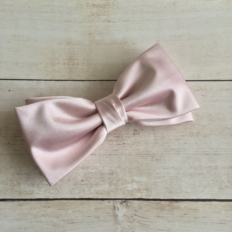 b66dba64467b Light Dusky Rose Bow Tie Light Dusty Rose Bow Tie Solid | Etsy
