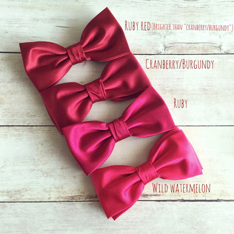 Ruby Red Bow Tie Cranberry Bowtie Burgundy Bow Tie Wild   Etsy
