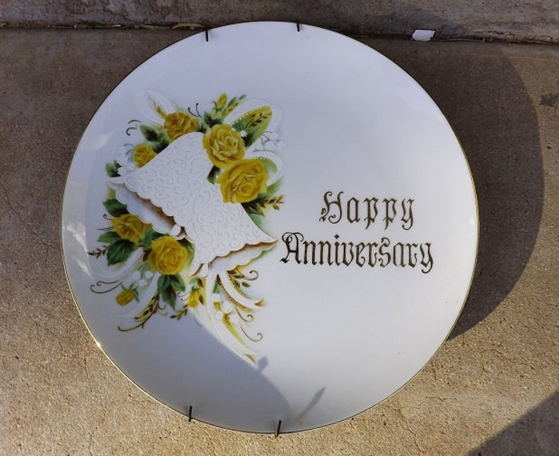 Decorative Arts Other Antique Decorative Arts Happy Anniversary Plate