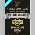 In Stock 960 Sterling Silver Aussie FLEX ORIGAMI Lump 25 grams metal clay