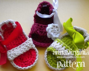 CROCHET PATTERN Baby Girl Sandals - PDF Crochet Pattern