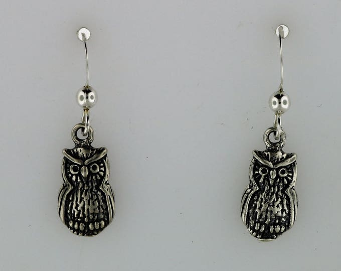 Owl Charm earrings in Sterling Silver