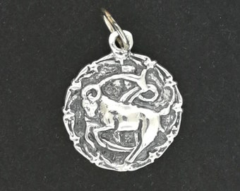 Zodiac Stud Earrings and Pendant Set Capricorn in Sterling Silver