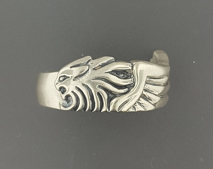 Final Fantasy 8 Squall Griever Ring Version 2 in Sterling Silver or Antique Bronze