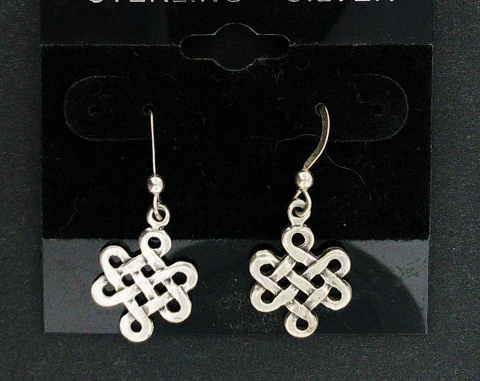 Small Endless knot earrings in Sterling Silver