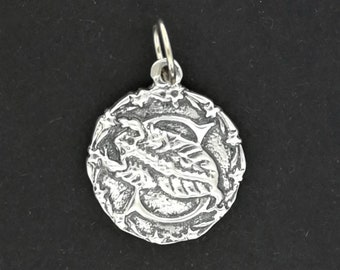 Zodiac Medallion Scorpio in Sterling Silver