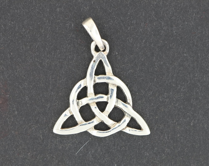 Small Sterling Silver Triquetra Pendant