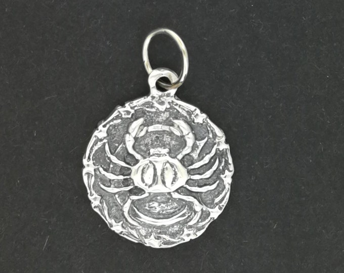 Zodiac Medallion Cancer in Sterling Silver