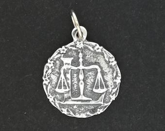 Zodiac Medallion Libra in Sterling Silver