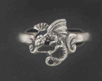 Fairy Dragon Ring in Sterling Silver