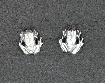 Frog Earrings in Sterling Silver