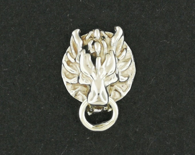 Single Gold FF7 Fenrir Wolf Stud Earring Made to Order