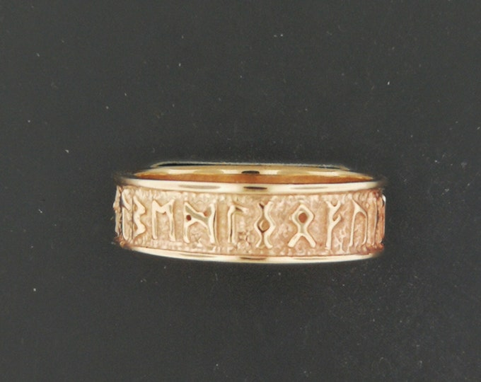 Norse Rune Band in Antique Bronze