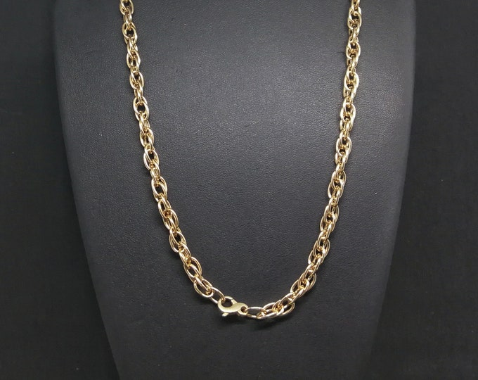 Large Antique Bronze Rope Chain made to order