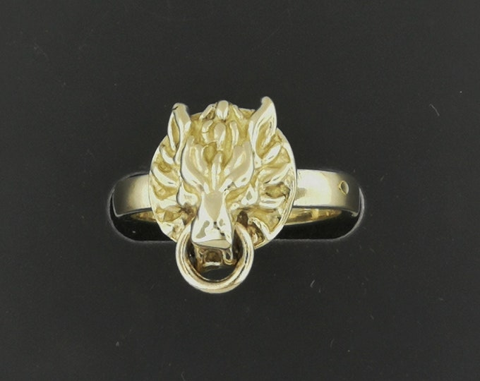 Gold FF7 Fenrir Wolf Rings Made to Order