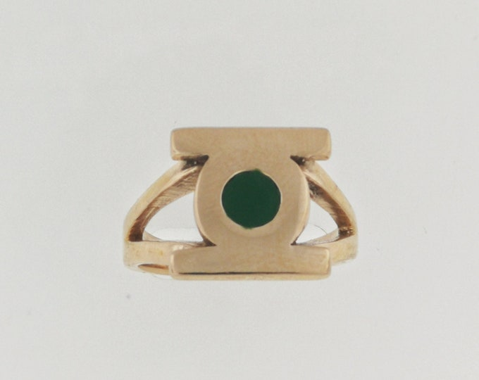 Green Lantern Signet Ring in Antique Bronze