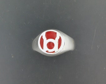 Red Lantern Ring in Sterling Silver or Antique Bronze