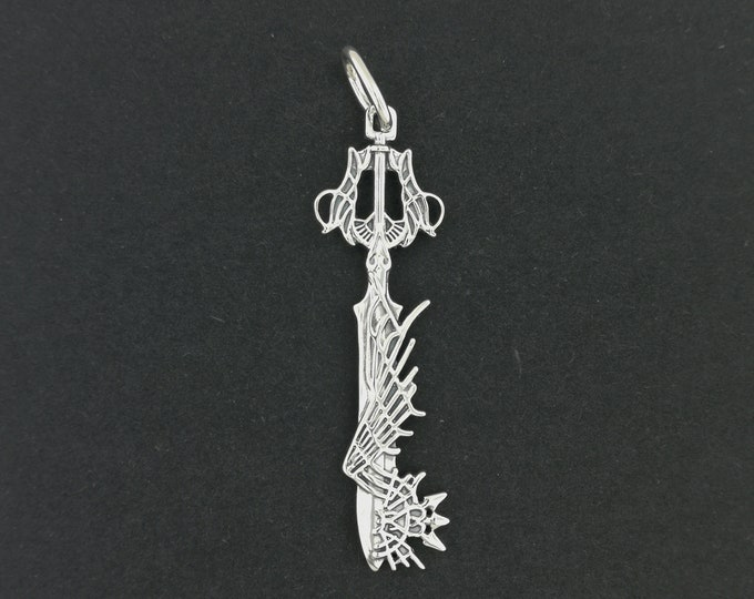 Kingdom Hearts Ultima Keyblade Pendant in Sterling Silver