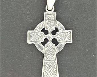 Medium Celtic Cross in Sterling Silver