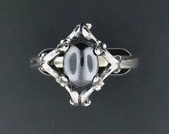 Sterling Silver Filigree Ring with Gemstones