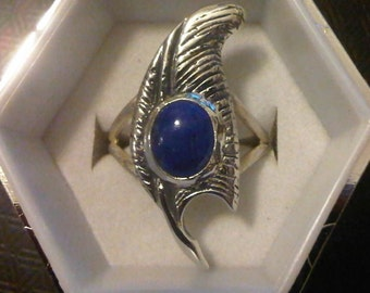 Feather of Ma-at Sterling Silver Ring, Custom Made