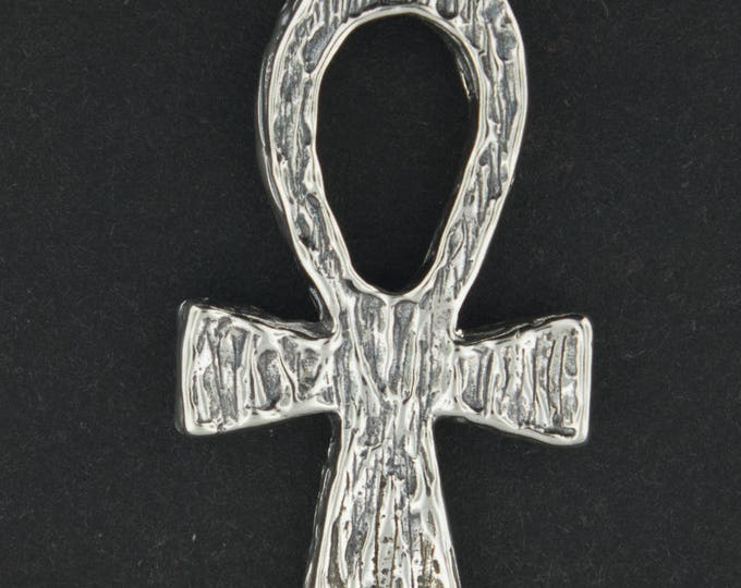 Large Sterling Silver Ankh Pendant