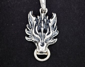 Cloud Strife Wolf Pendant in Sterling Silver from Final Fantasy 7