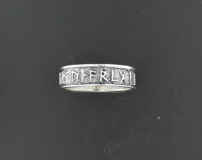 Norse Rune Band in Sterling Silver