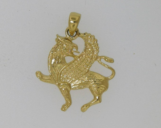 Gold Griffin Pendant Made to Order