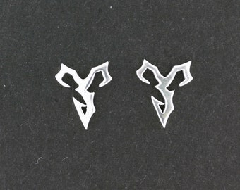 Final Fantasy X Tidus Earrings in Sterling Silver