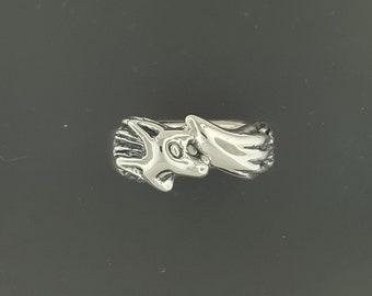 Fox Ring in Sterling Silver