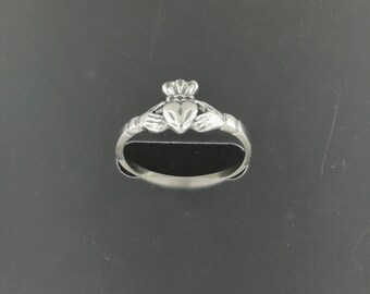 Small Claddagh Ring in Stainless Steel Made To Order