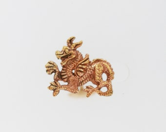 Welsh Dragon Cuff Links in Antique Bronze