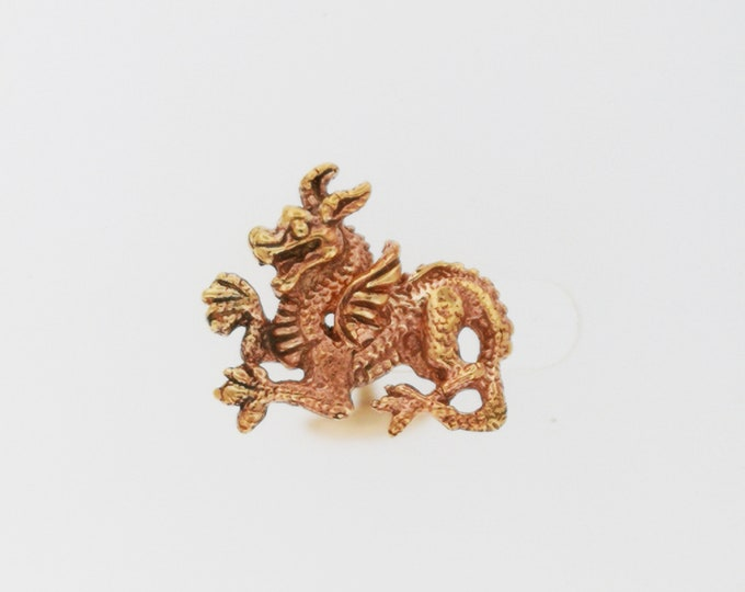 Welsh Dragon Cuff Links in Antique Bronze