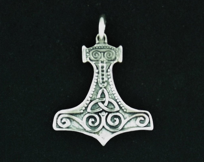Classic Thor's Hammer in Sterling Silver or Antique Bronze