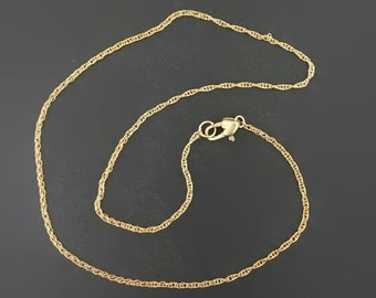 Antique Bronze Rope chain made to order