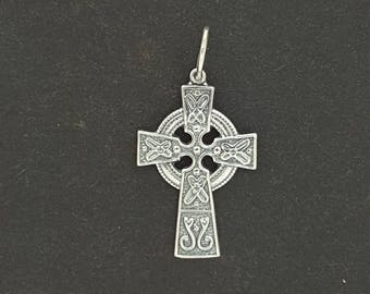 Small Celtic Cross in Sterling Silver