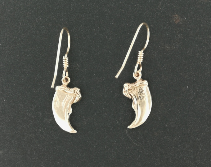 Bear Claw Earrings in Antique bronze