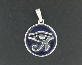 Eye of Ra Pendant in Sterling Silver