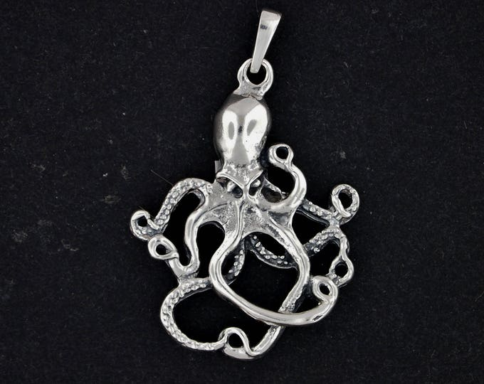 Octopus Pendant in Sterling Silver