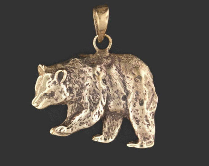 Bear Pendant in Antique Bronze