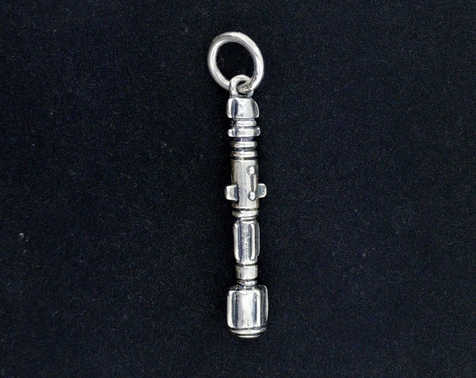 Sterling Silver Dr. Who Sonic Screwdriver Pendant