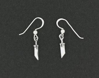 FF7 Buster Sword Earrings in Sterling Silver