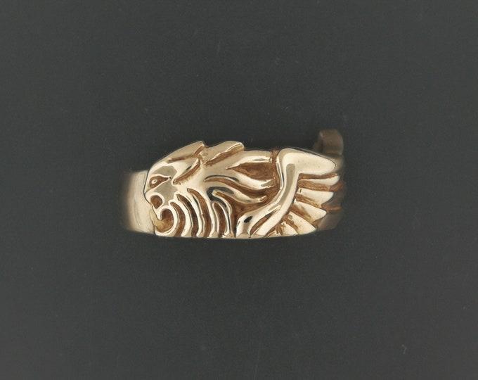 Final Fantasy 8 Squall Leonhart Ring V2 in Antique Bronze
